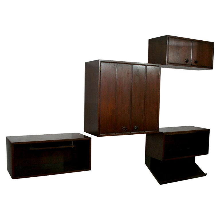 Modular Wall Mount Cabinets by Edward Wormley for Dunbar