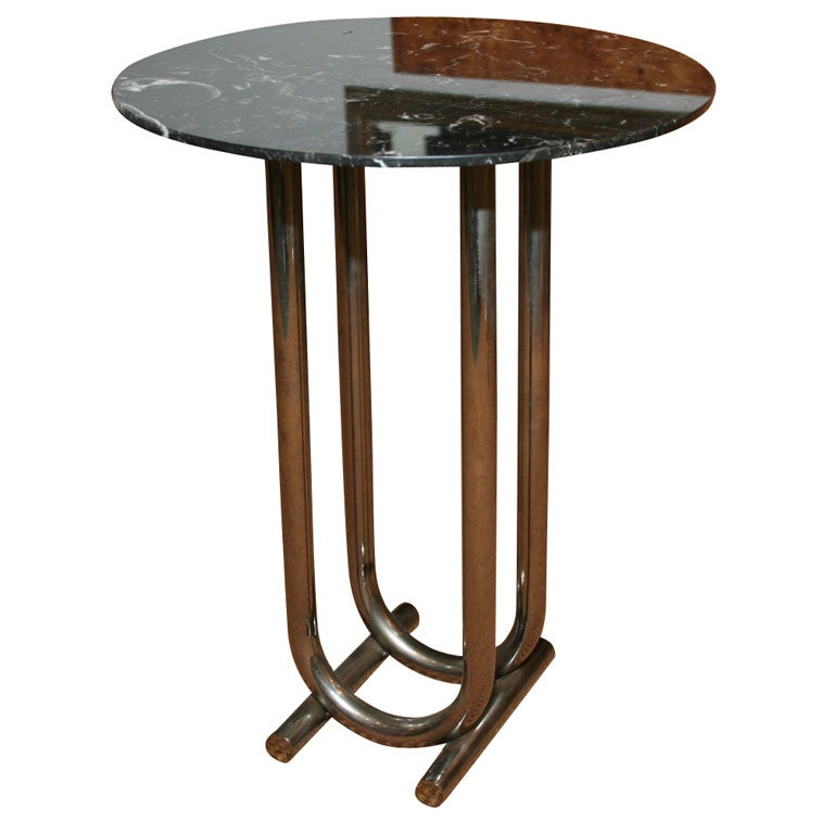 Petite Sable Marble-Top Cigar Table by Jay Spectre