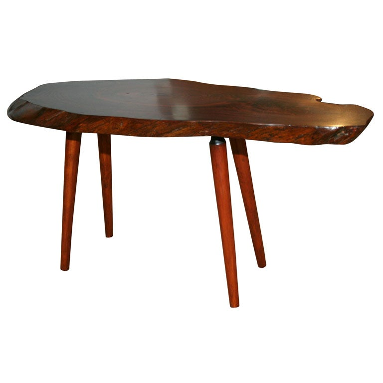 Studio Craft Free Edge Cocktail Table by Roy Sheldon