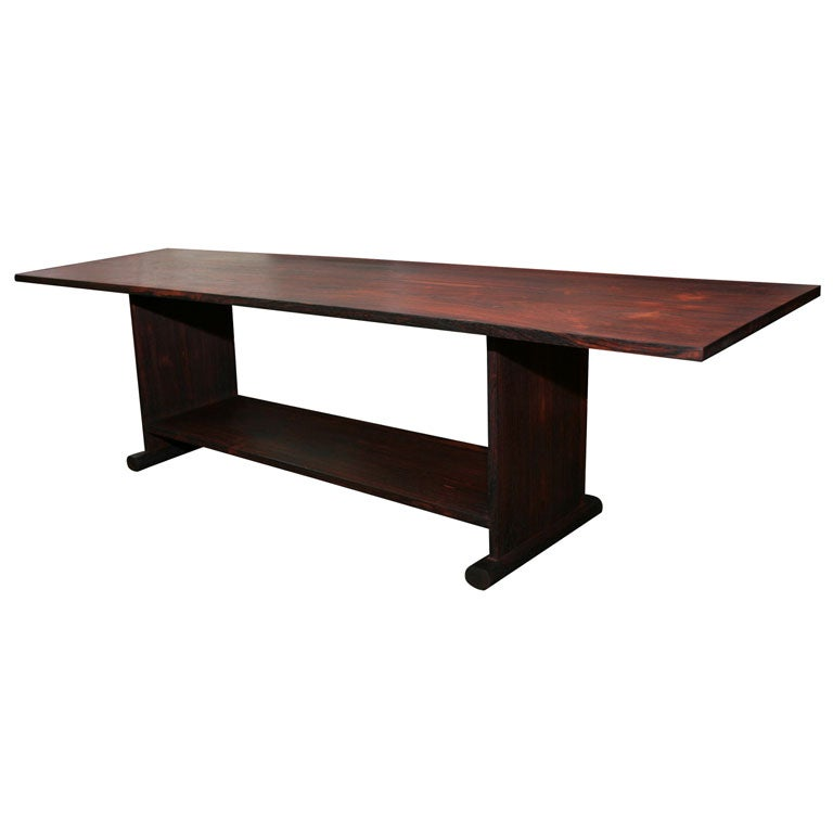 Long Low Coffee Table: LONG LOW ROSEWOOD TABLE BY JEANNE DE LANUX At 1stdibs