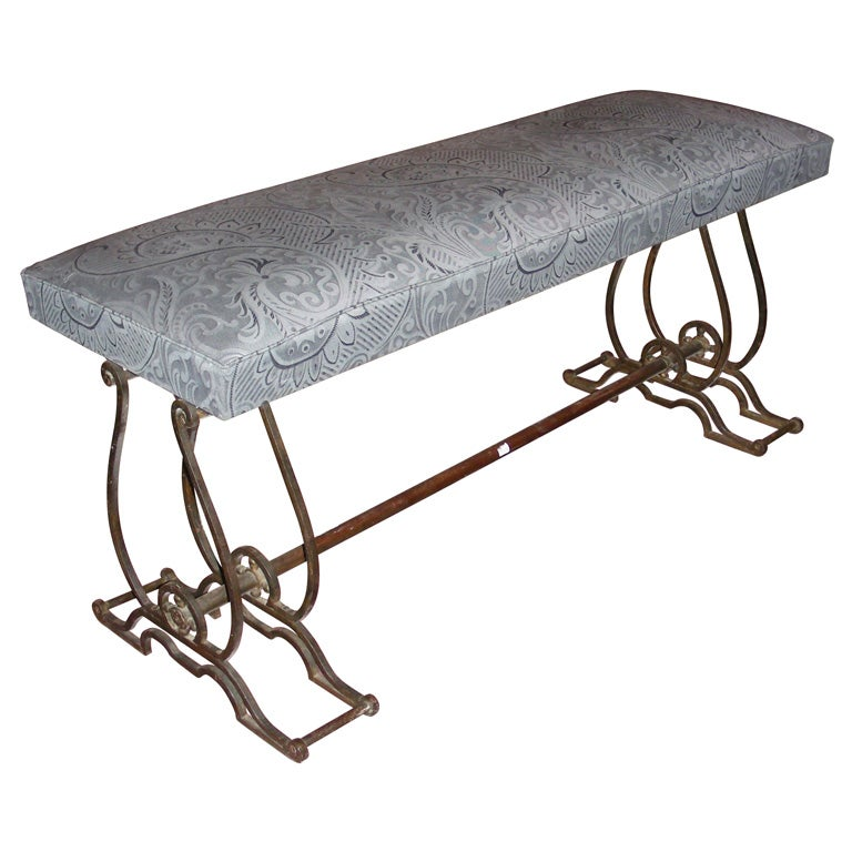 Small 1940s Wrought Iron Bench At 1stdibs