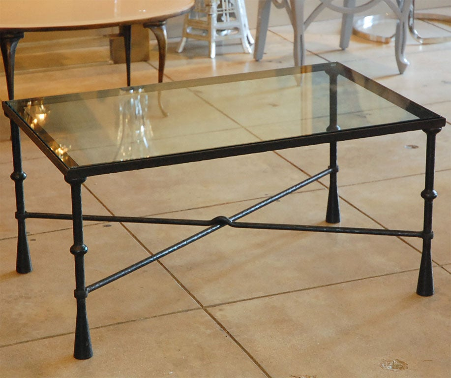 Hand forged steel coffee table at stdibs