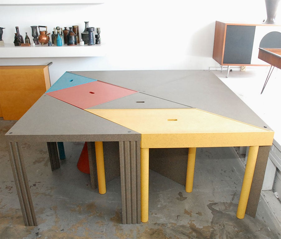 """Tangram"" Modular Dining Table by Massimo Morozzi 2"