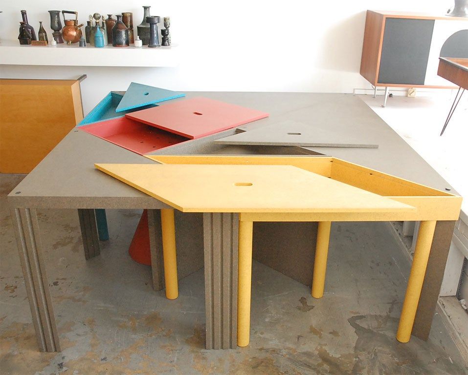 """Tangram"" Modular Dining Table by Massimo Morozzi 3"