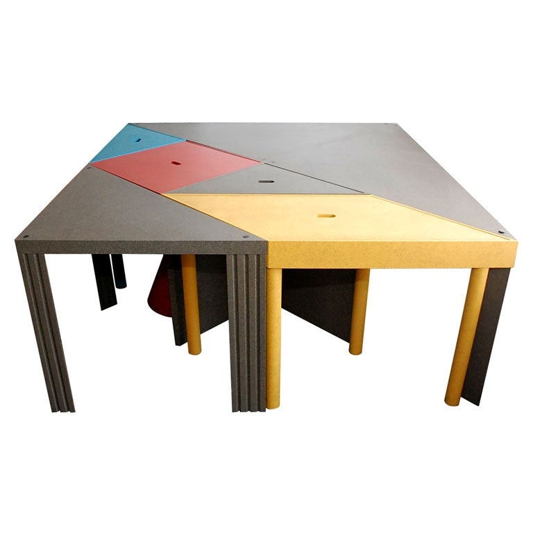 """Tangram"" Modular Dining Table by Massimo Morozzi 1"