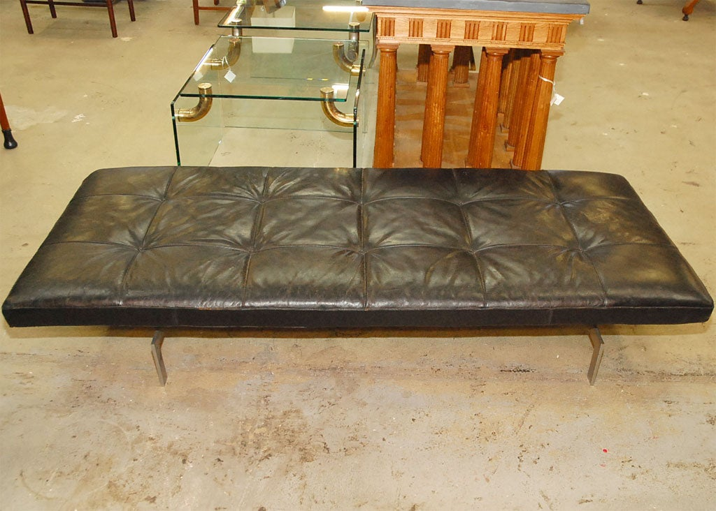 PK 80 Poul Kjaerholm by Kold Christensen leather daybed In Good Condition In Los Angeles, CA