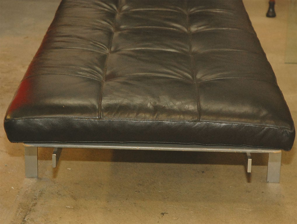 Chrome PK 80 Poul Kjaerholm by Kold Christensen leather daybed