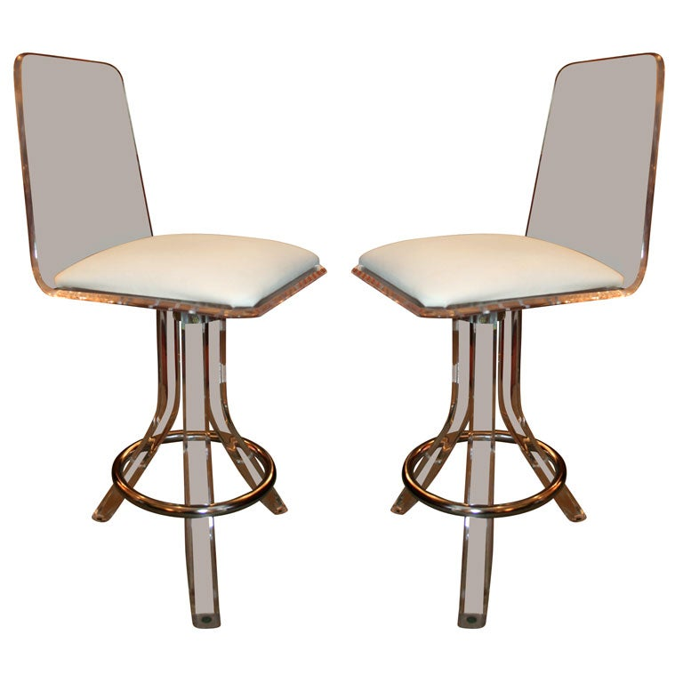 Lucite Bar Stools At 1stdibs