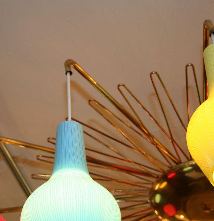 Lightolier Lighting Fixture With 12 Venini Globes At 1stdibs