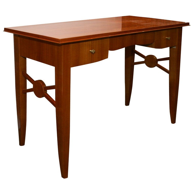Art deco writing table desk by jules leleu at 1stdibs for Art deco writing
