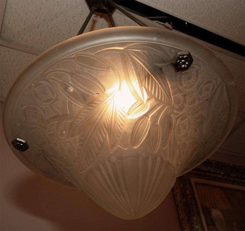 French Art Deco Chandelier by Lorraine For Sale