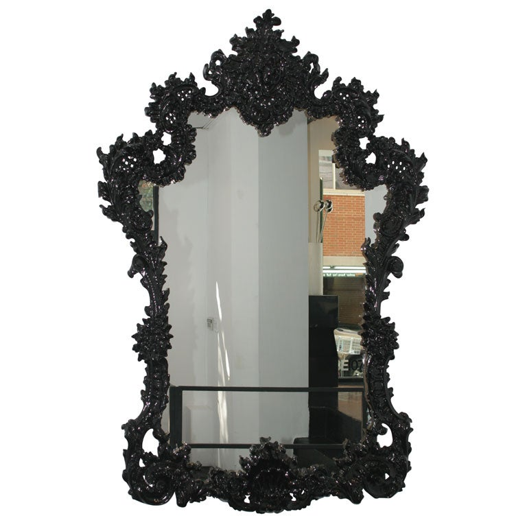 La grande baroque mirror at 1stdibs for Plastic baroque mirror