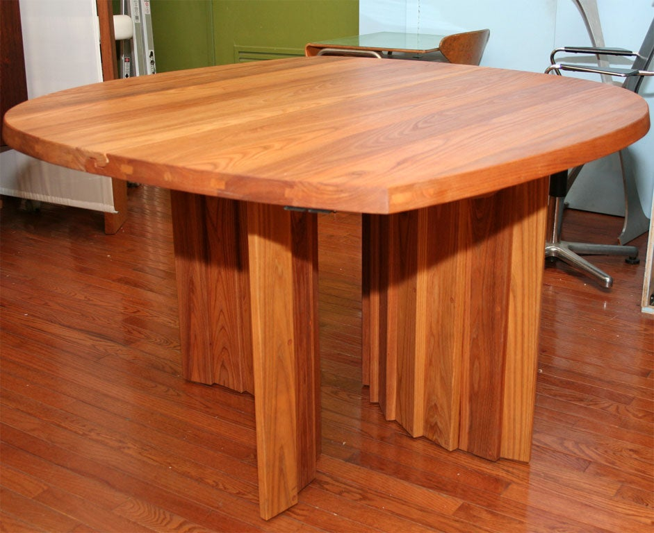 Mid-Century Modern Variable Geometric Dining Table by Pierre Chapo For Sale