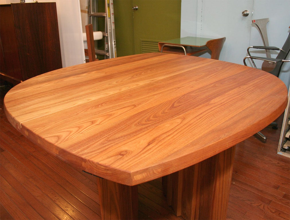 Mid-20th Century Variable Geometric Dining Table by Pierre Chapo For Sale