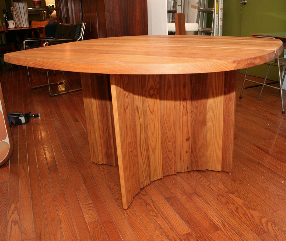 Variable Geometric Dining Table by Pierre Chapo For Sale 1