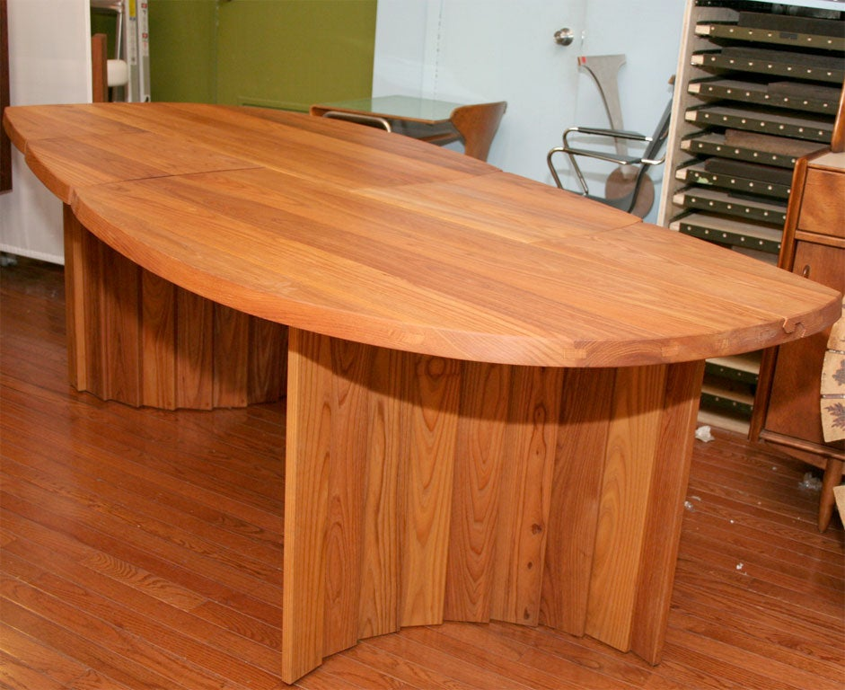 Variable Geometric Dining Table by Pierre Chapo For Sale 2