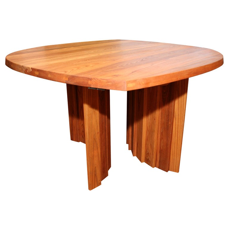 Variable Geometric Dining Table by Pierre Chapo For Sale