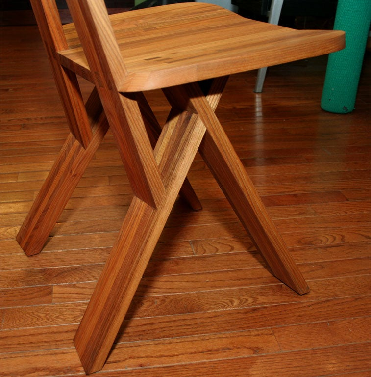 High Back Chair by Pierre Chapo For Sale 1