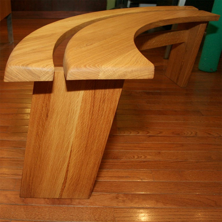 Quarter Bench In Excellent Condition For Sale In Brooklyn, NY
