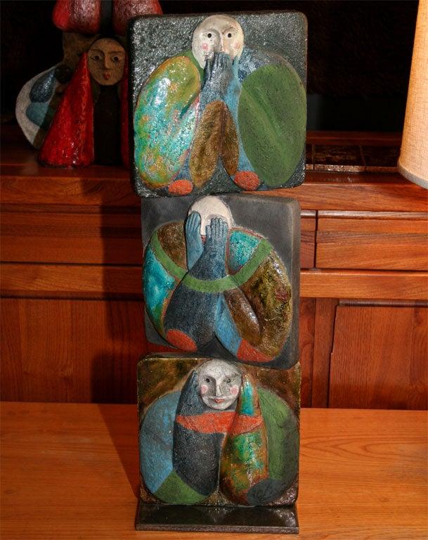 """""""Proverb 5"""" Ceramic Tile Sculpture by Jean-Paul Bonnet 2"""