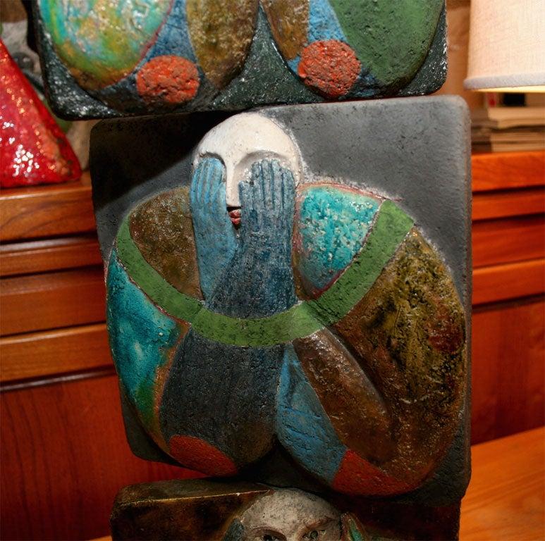 """""""Proverb 5"""" Ceramic Tile Sculpture by Jean-Paul Bonnet 4"""