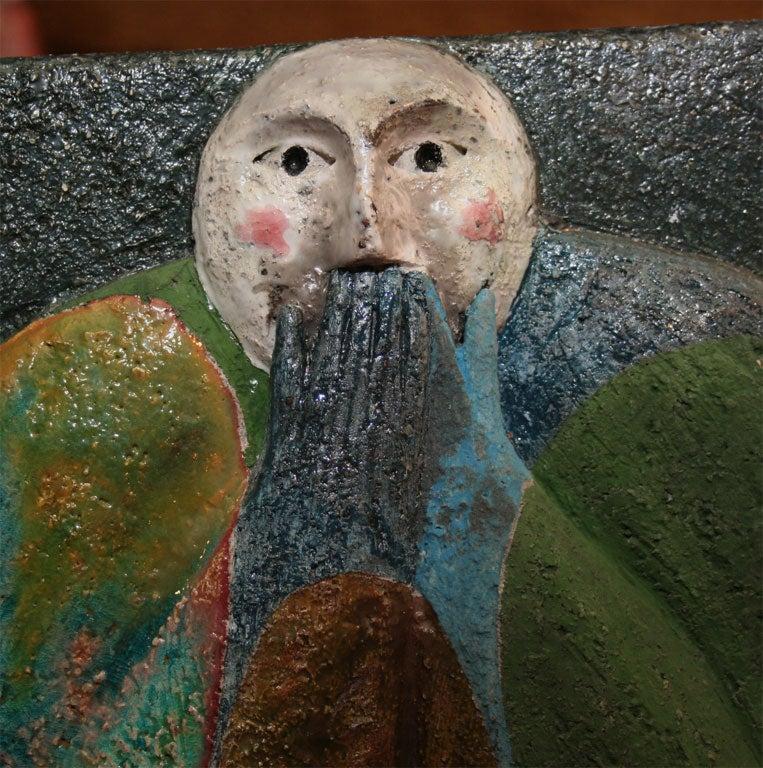 """""""Proverb 5"""" Ceramic Tile Sculpture by Jean-Paul Bonnet 5"""