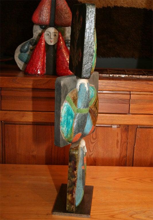 """""""Proverb 5"""" Ceramic Tile Sculpture by Jean-Paul Bonnet 6"""