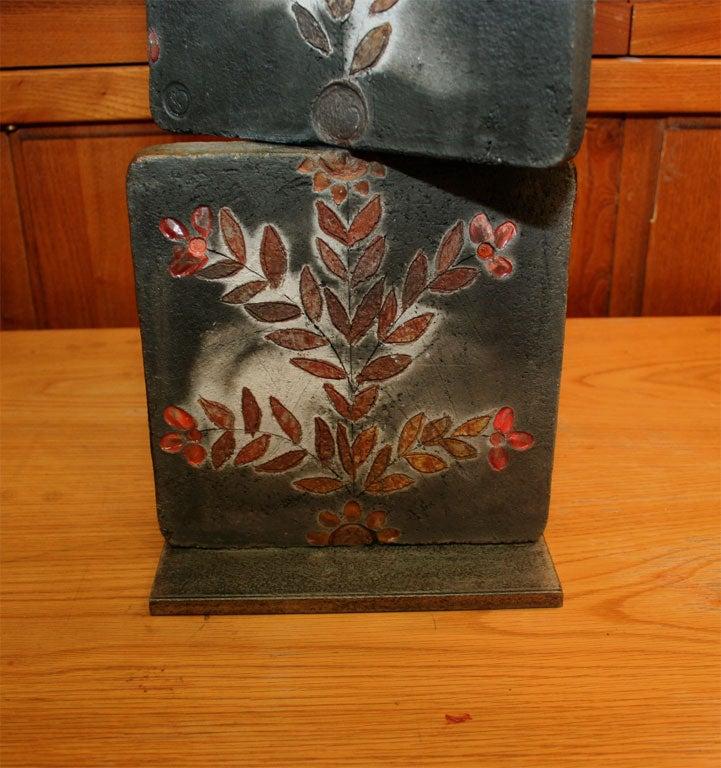 """""""Proverb 5"""" Ceramic Tile Sculpture by Jean-Paul Bonnet 9"""