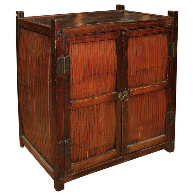 Elmwood Kitchen Cabinet Door Styles: Elmwood And Bamboo Cabinet At 1stdibs
