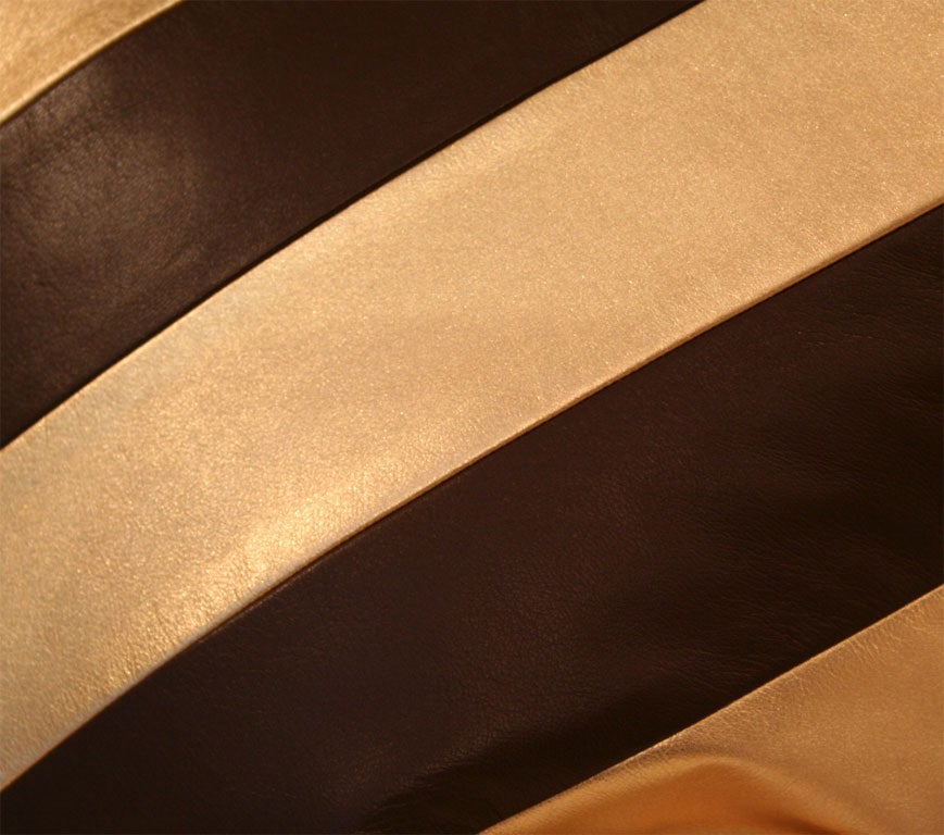 Striped Leather pillows image 3