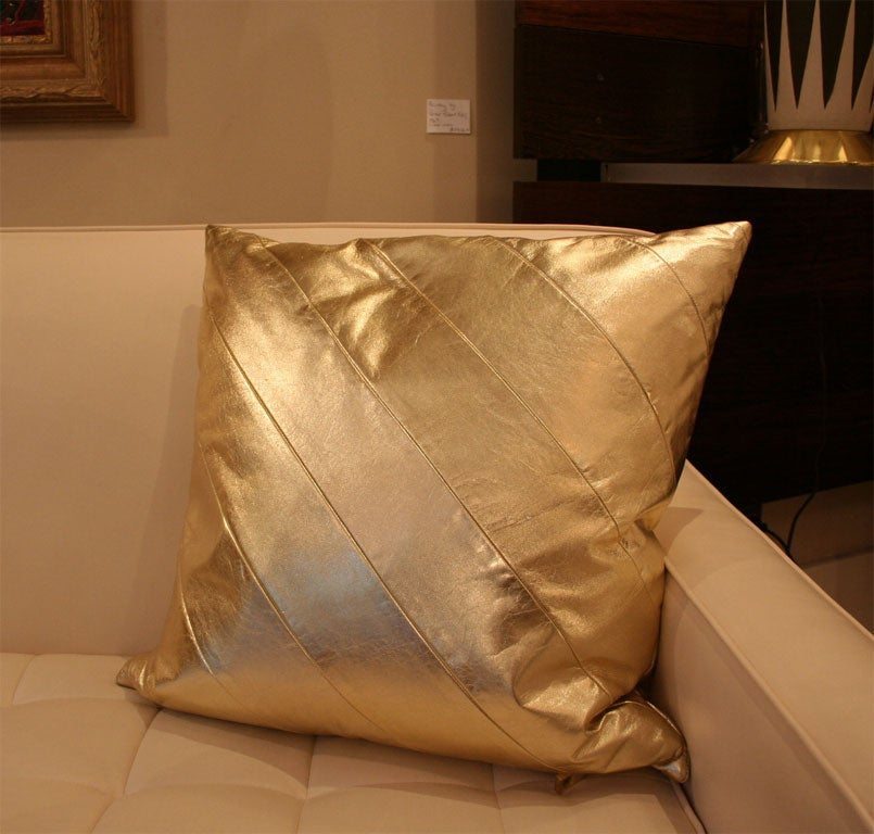 Striped Leather pillows image 7