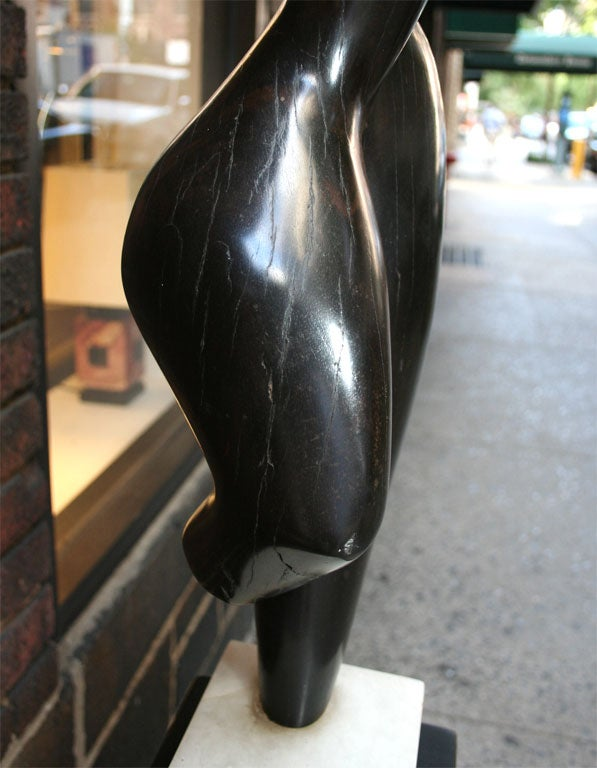 Modernist Wood Sculpture Signed Brumme, 1946 In Excellent Condition For Sale In New York, NY
