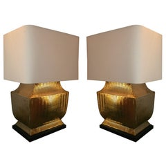 Table Lamps Mid Century Modern brass Asia 1960's