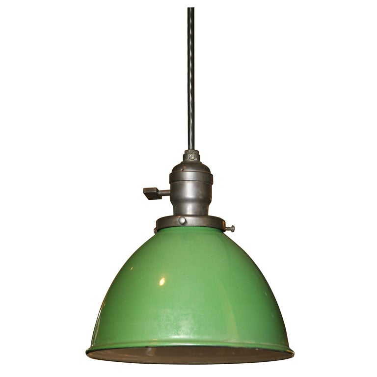 Green Enamel Pendant Fixtures At 1stdibs