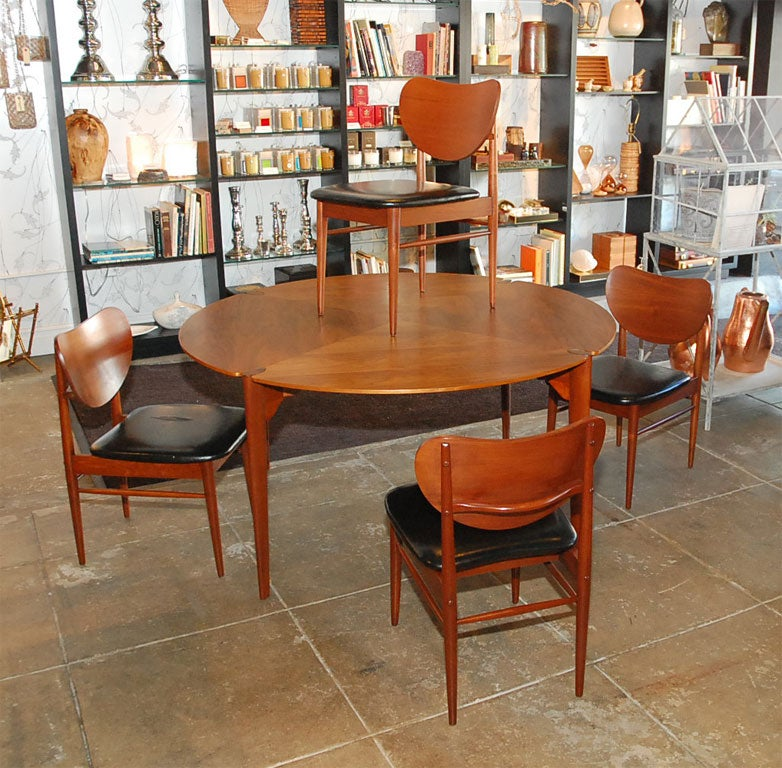 Brown-Saltman Walnut Game/ Dining Set 2