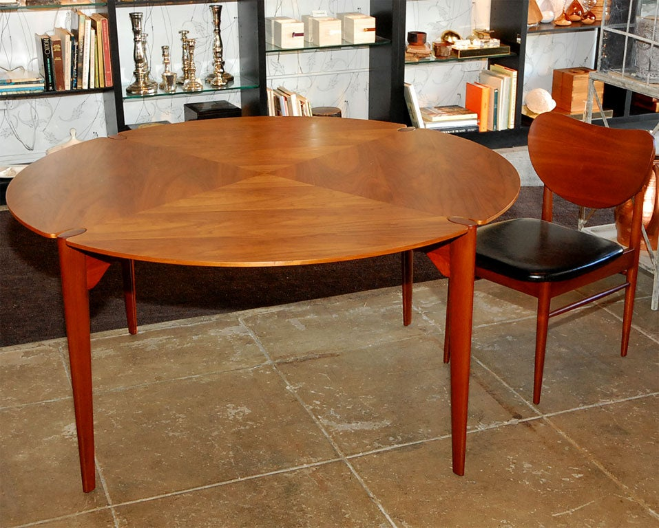 Brown-Saltman Walnut Game/ Dining Set image 3