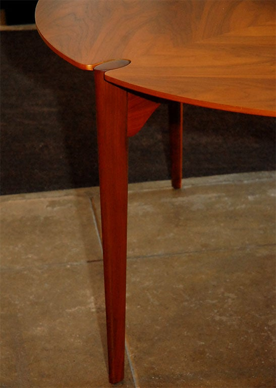 Brown-Saltman Walnut Game/ Dining Set image 4