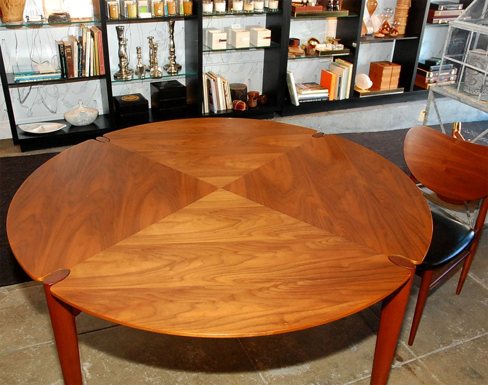 Brown-Saltman Walnut Game/ Dining Set 5