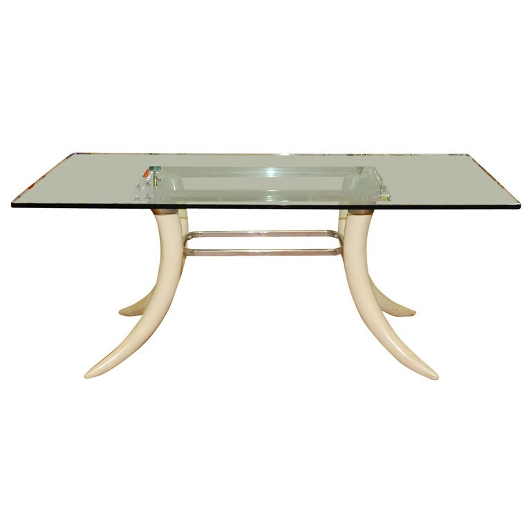 Faux Tusk  Dining Table