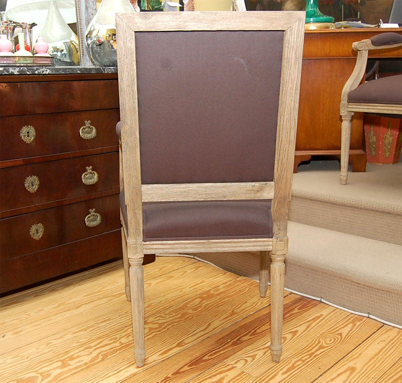 Salon Chair in Pickled Oak For Sale 1