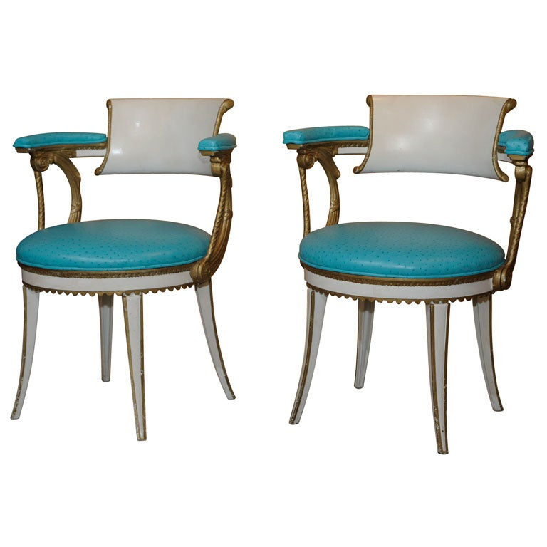 Dorothy Draper Armchairs From Fairmont Hotel At 1stdibs