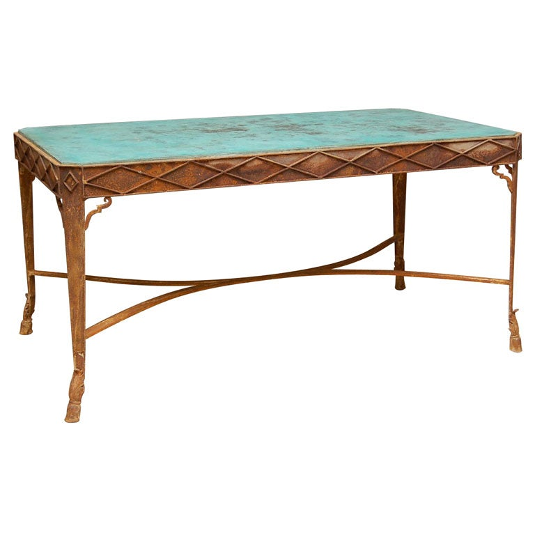Verte Green Stone Top Coffee Table At 1stdibs