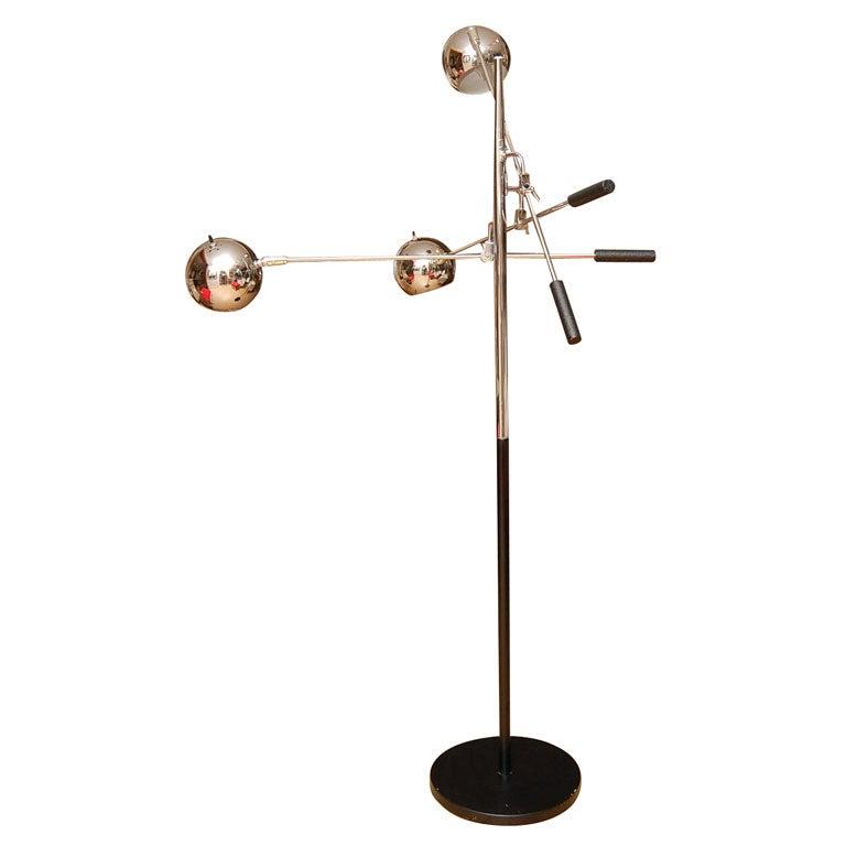classic 60 39 s multi head chrome floor lamp at 1stdibs. Black Bedroom Furniture Sets. Home Design Ideas
