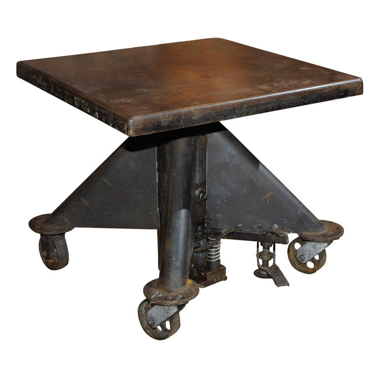 Hydraulic Industrial Table At 1stdibs