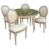 Louis XVI Style Painted Dining Table