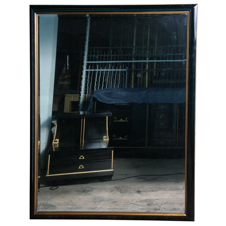 Grosfeld house black lacquer mirror bedroom suite at 1stdibs for Black bedroom suite