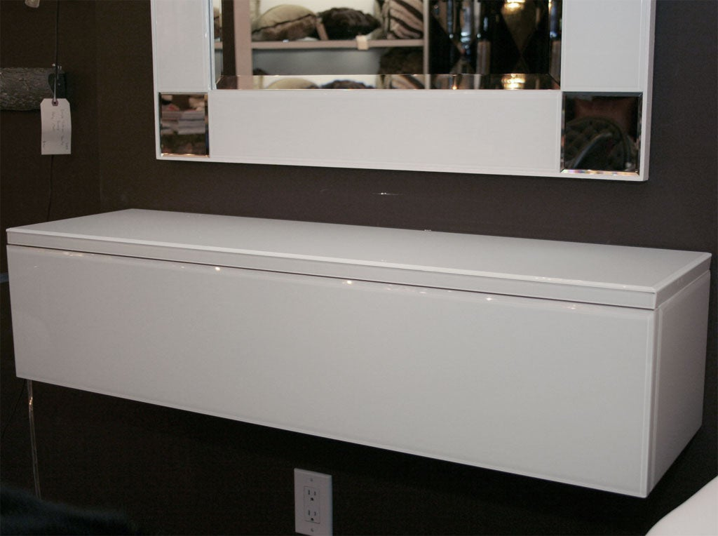 white mirrored sideboard white mirrored sideboard with drawer for at 1stdibs 1054