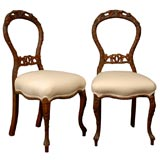 Pair of Black Forest side chairs