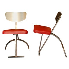 Pair of Sculptural Modernist Chairs, Germany, circa 1930s