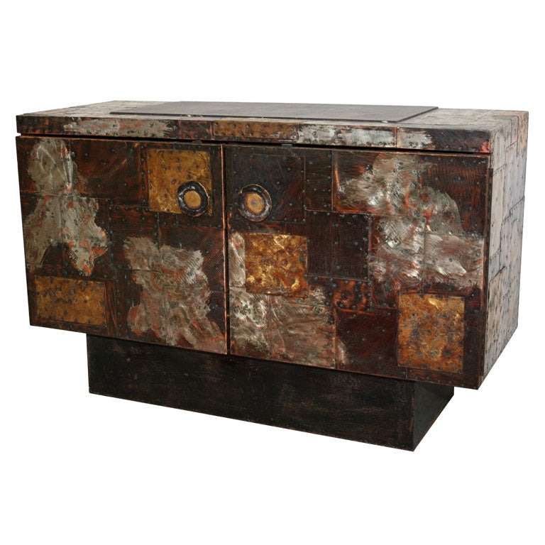 Coolhouse - Paul Evans - Paul Evans Metal Patchwork Cabinet with